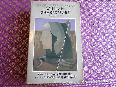 The Complete Works of William Shakespeare volume V w/ textual notes plays drama