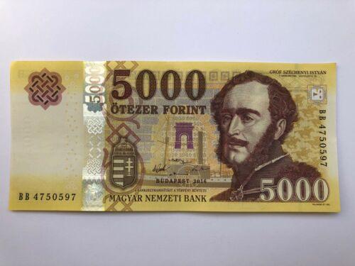 Hungarian Banknote 5000 HUF Forint Hungary 2016 GEM UNC CU