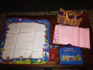 AQUADOODLE TRAVEL, FLOOR MAT, DISNEY & CARRY BAG LOT