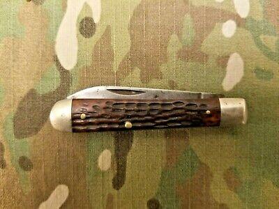 VINTAGE CASE XX, 6214, POCKET KNIFE , 1940-1964, RED BONE HANDLE