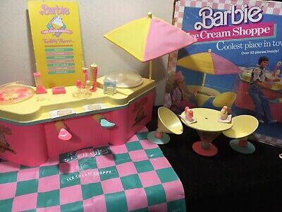 "Vintage 1980's BARBIE Ice Cream Shoppe with Original Box ""Complete Set"""