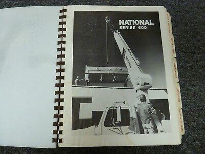 National 647 627 633 637 656 690 673 677 Crane Operator Parts Service Manual