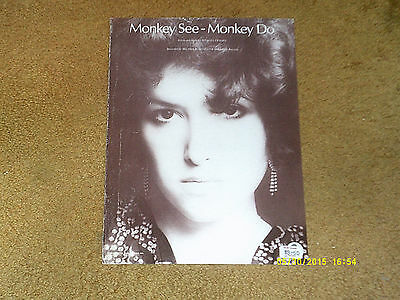 Melissa Manchester sheet music Monkey See-Monkey Do 1976 4 pages (VG shape)