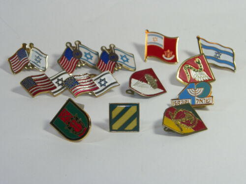 Military PINS FLAGS,ETC LOT OF 13 PINS FREE SHIP