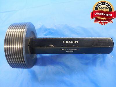 3 8 Npt L1 Pipe Thread Plug Gage 3.0 3.00 3.000 N.p.t. L-1 3-8 Taper