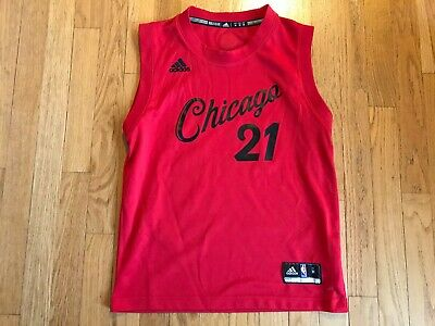 Youth Medium Jimmy Butler #21 Chicago Script Bulls Adidas NBA Christmas Jersey  ()