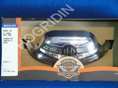 harley davidson chrome front fender tip road king classic touring softail flh fl