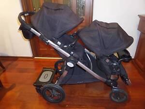 Pram Stroller Baby Jogger Citi Select Double Seats - Black Novar Gardens West Torrens Area Preview