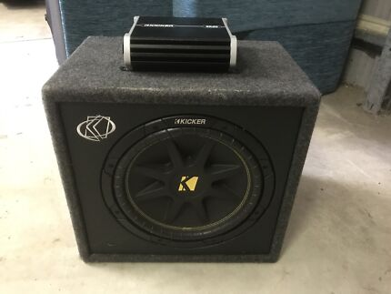"""12"""" Kicker Subwoofer and 2 channel amp"""