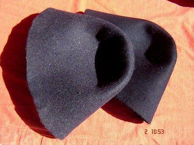 2 Stück Hutstumpen Wolle Filz Stumpen Wolle marine und blaumeliert