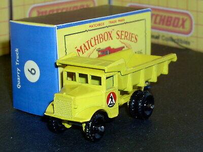 Matchbox Moko Lesney Euclid Quarry Truck 6 b2 BPW D-C decal SC1 V/NM crafted box