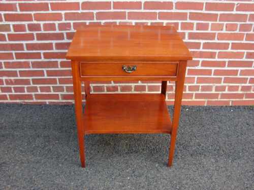 CRAFTIQUE MAHOGANY NIGHTSTAND END TABLE AS FOUND