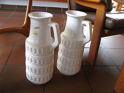 XXL 60s Vintage Vase Scheurich 429 - 45 WGP Floor Boden weiss Midcentury