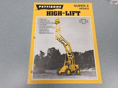 Rare Pettibone Super 8 High-lift Sales Sheet