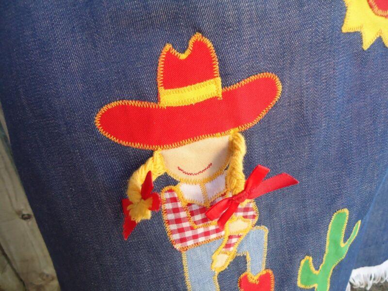 NOS Vtg Fringed Embroidered Southwestern Cowgirl Wrap Skirt sz 10 Sun Western