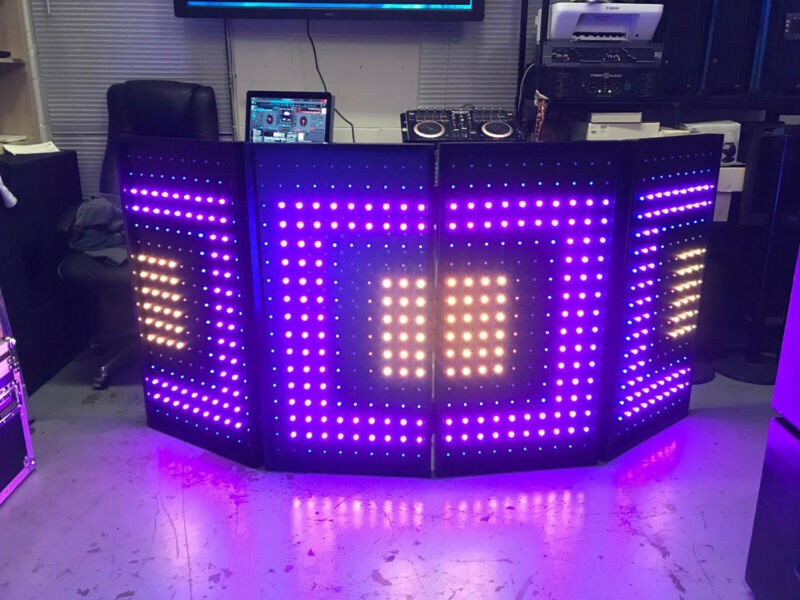 LED Pixel DJ Booth/ Facade Panels, 4 Detachable Interactive Panels