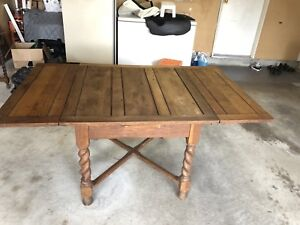 Antique Table & chairs with side table