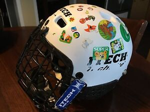 "Youth hockey helmet, size 18-20"" with face mask"