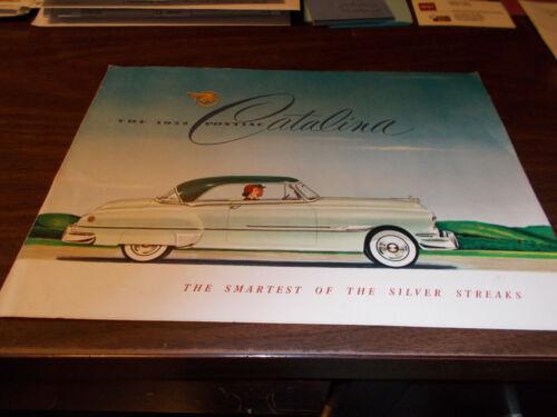 1952 Pontiac Catalina Sales Brochure