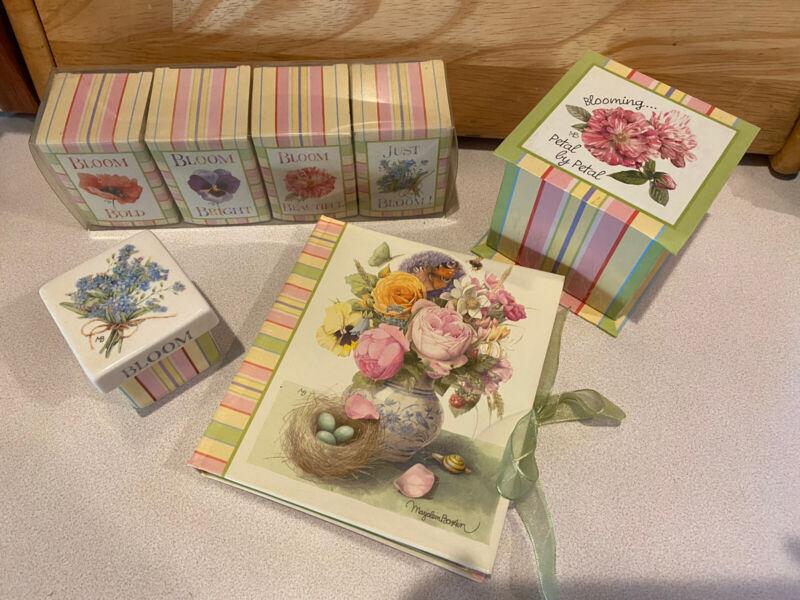 Hallmark Marjolein Bastin Beautiful Bloom Stripes & Flower Candles Trinket Box