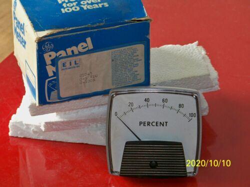 250-3 GE panel meter 0-5 vdc 0-100 %