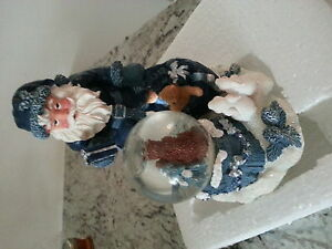 Santa statue with crystal ball- New in box