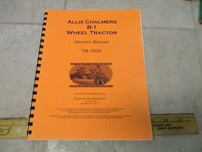 Vtg Allis Chalmers Garden Tractor Operators Manual Guide Tm-300a Reprint B-1