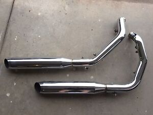 Stock Harley Davidson exhaust pipes