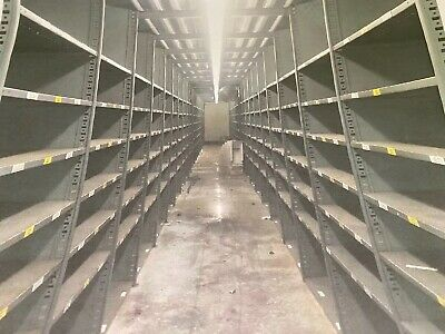Industrial Metal Shelving Used In Excellent Condition 16 By 48 And Have Rusted