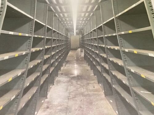 Industrial Metal Shelving, used in excellent condition