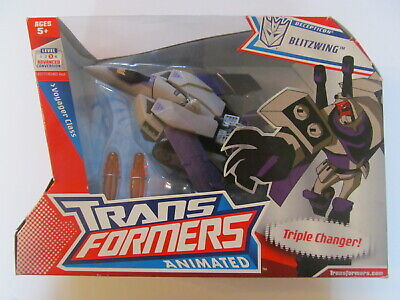 Transformers: Animated - Decepticon Blitzwing - Sealed - Some Wear