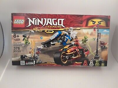 LEGO NINJAGO Legacy Kai's Blade Cycle & Zane's Snowmobile 70667 ~ NEW