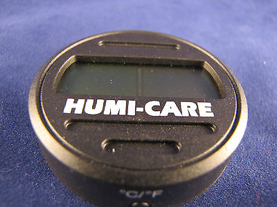 Humi-Care Black Ice Round Digital Hygrometer for Cigar Humidors - New