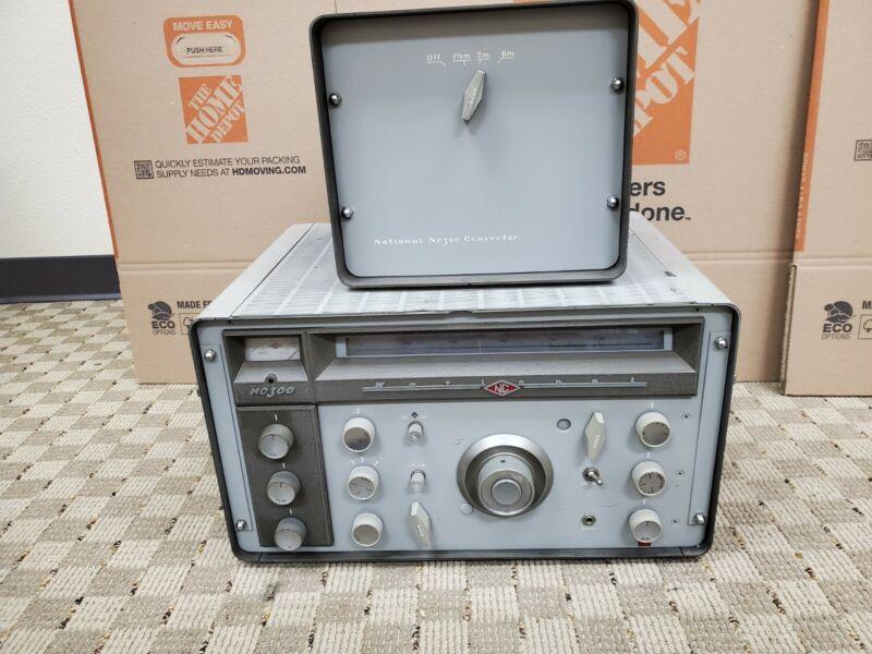 Vintage National NC-300 Shortwave Radio Receiver Nice w/ NC 300 Converter