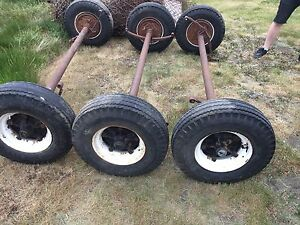 Triple 7000lbs house trailer axles