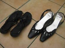 Two pairs of black women's sandals size 11 Longueville Lane Cove Area Preview