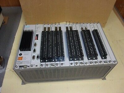 Siemens Simatic 505-6516 Rack With 545-1104 Processor Module Used
