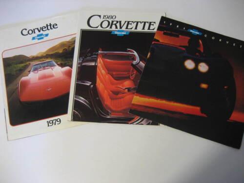 1979, 1980 & 1981 Chevrolet Corvette Brochures