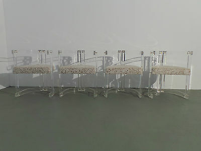 4 x Acrylglas Stuhl Lucite chair im Stile von Charles Jones Hollis Lion Frost
