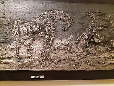 Cavalli del Mare by Aligi Sassu Original 925 sterling silver 3D wall art...