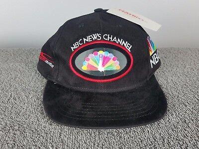 New Vtg Retro Hatrixx Extreme Motions Nbc News Channel Snap Back Cap Hat Black
