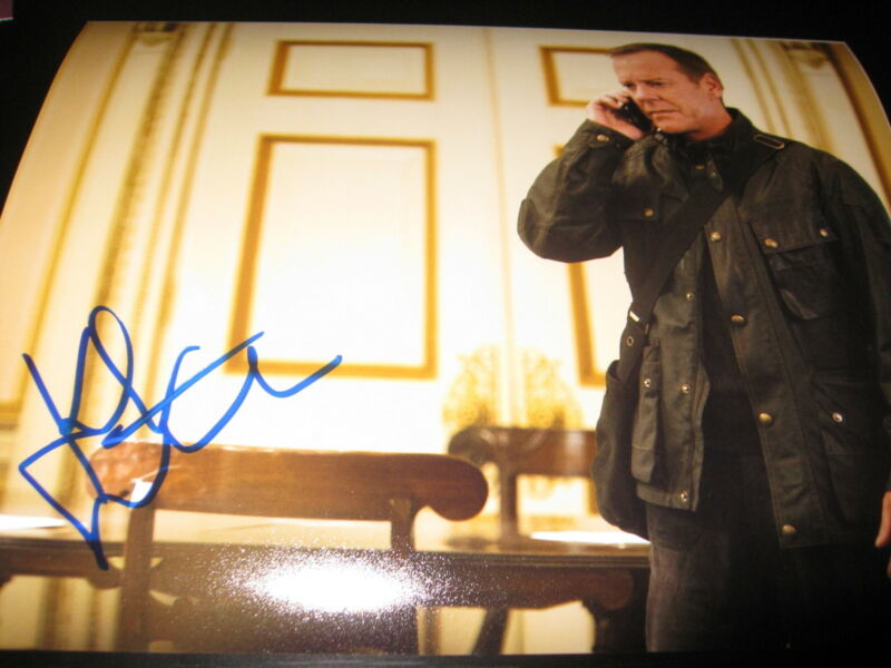 KIEFER SUTHERLAND SIGNED AUTOGRAPH 8x10 PHOTO 24 PROMO LIVE ANOTHER DAY COA M