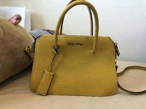 Miu Miu color block satchel bag in yellow and grey