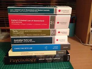 QUT law / psychology textbooks Alexandra Hills Redland Area Preview