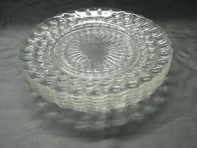Vtg Anchor Hocking BUBBLE Clear Set of 5-9 1/4