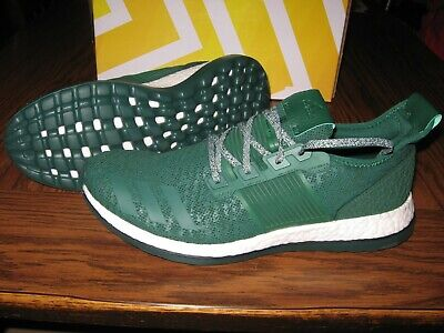 New Men's Adidas Pure Boost ZG Running Shoes Size 13 Green/White BA8458