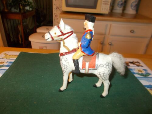 RARE AND HARD TO FIND GEORGE WASHINGTON COMPO FIGURE RIDING HORSE GERMANY 1910