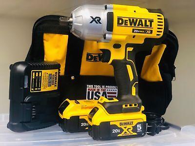 DEWALT DCF899P2 20V MAX Li-Ion 1/2 in. Impact Wrench w/ (2) 5.0AH & DCB115