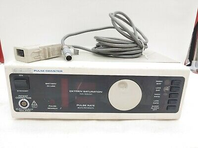 Nellcor N-100 Patient Monitor Sao2 Pulse Oximeter Patient Monitor Some Damage