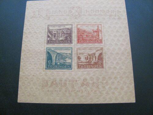 SBZ Thüringen 1946 TYPE 2 postfrisch ** MNH